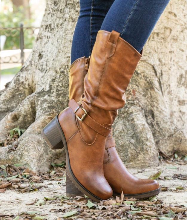 Knee-length Boot Asra - Camel