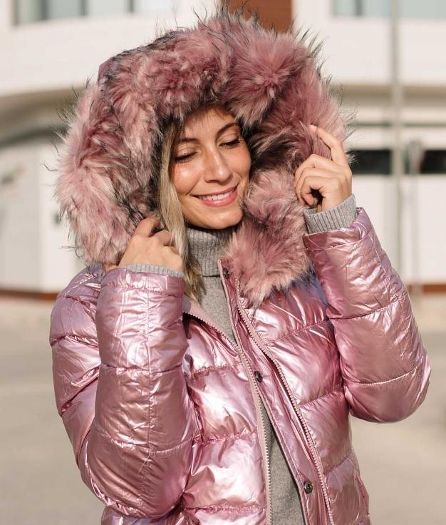 Cappotto Reversibile Galebi - Rosa