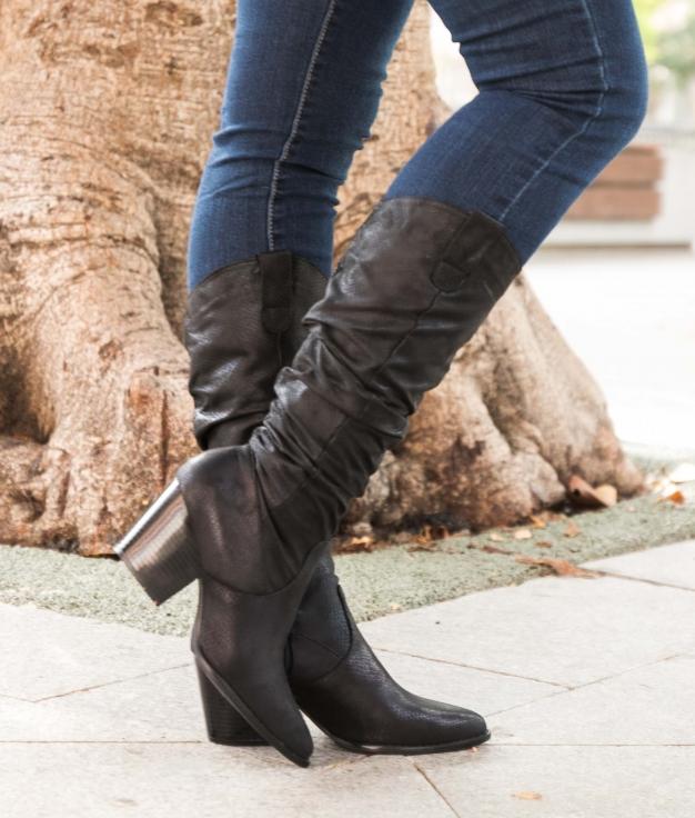 Knee-length Boot Serina - Black