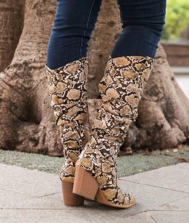 Knee-length Boot Serina - Snake