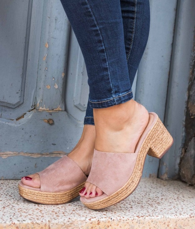 Sandalia de Tacón Proke - Rosa