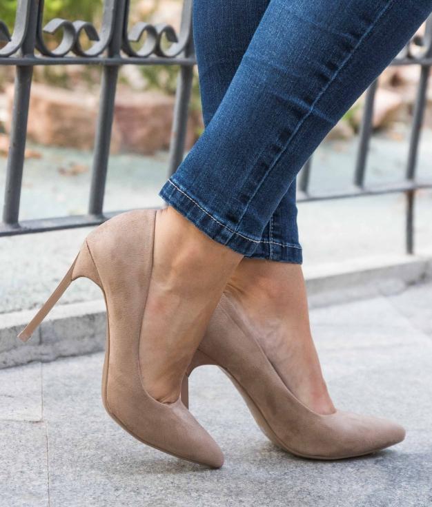 Zapato de Tacón Denisa - Kaki