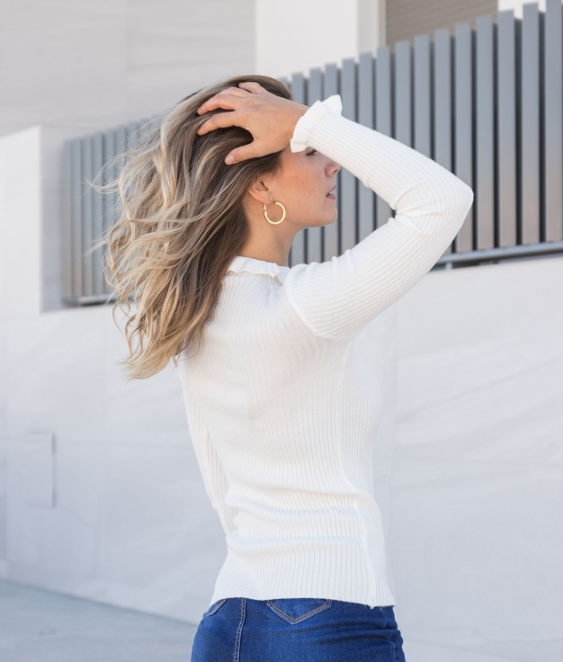 Sweater Sidal - White