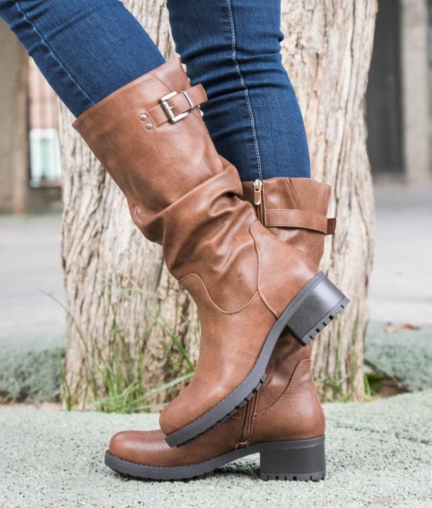 Knee-length Boot Tacher - Camel