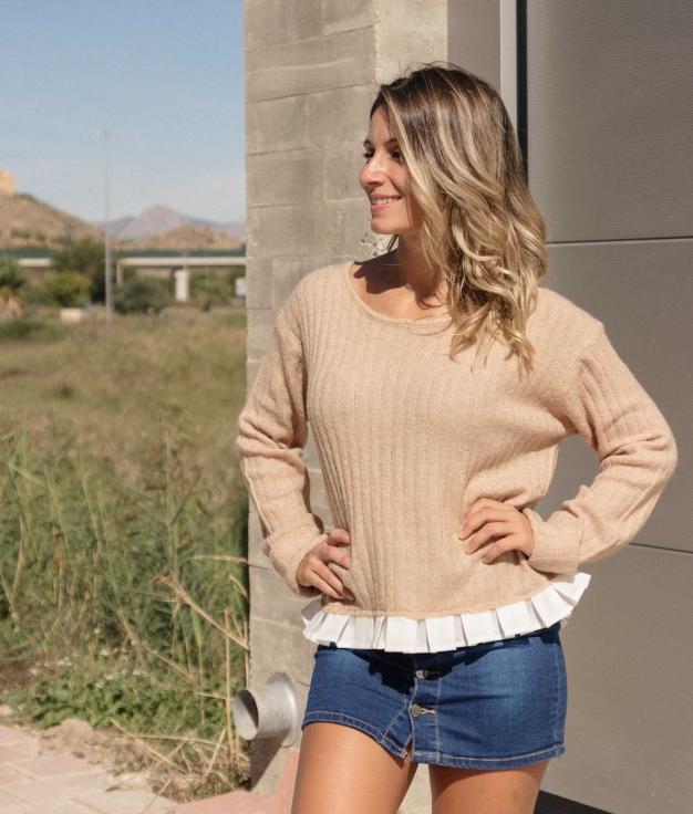 Sweater Laxe - Beige