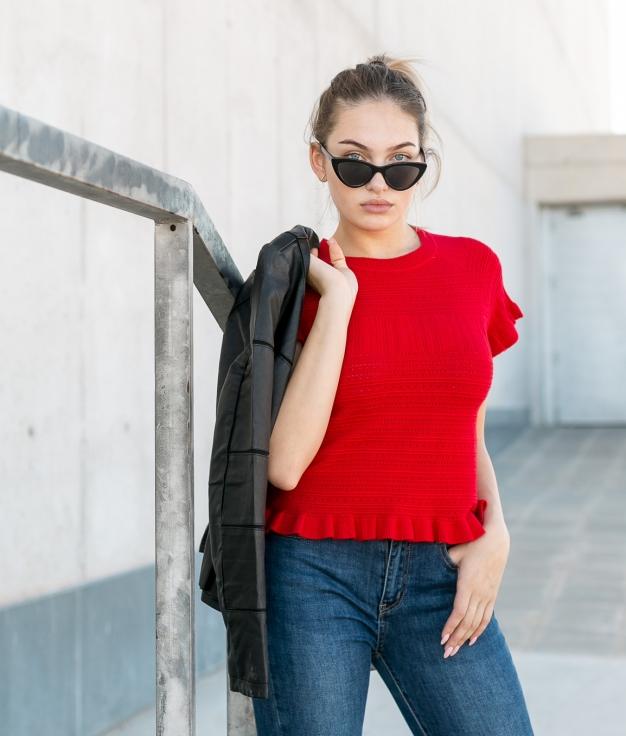 Camiseta Karsi - Rojo