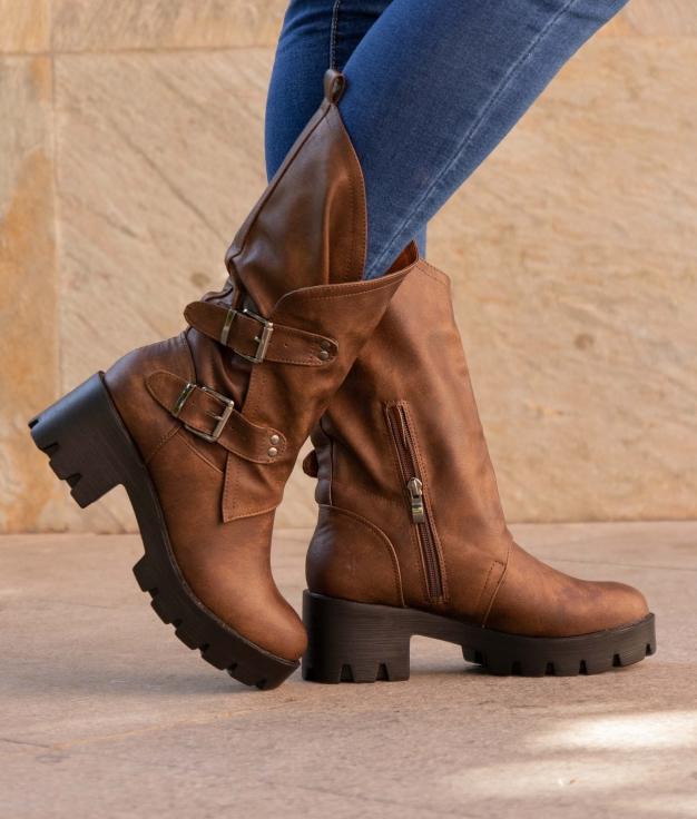 Knee-length Boot Chesu - Camel