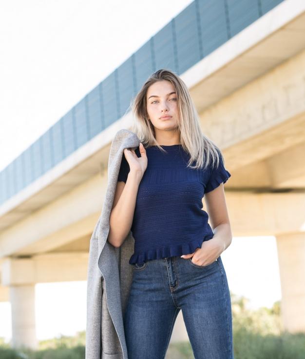 T-shirt Karsi - Blue