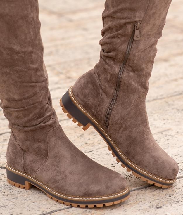 Knee-length Boot Sirlon - Taupe