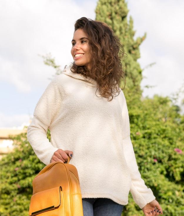 Sweatshirt Toms - White