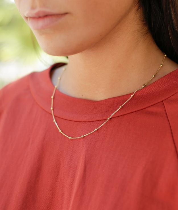 Necklace Bulet - Gold