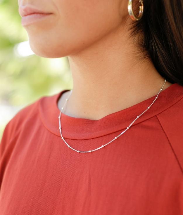 Necklace Bulet - Silver