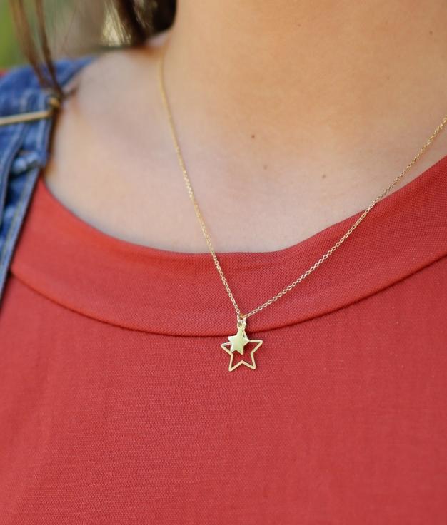Necklace Dublestar - Gold