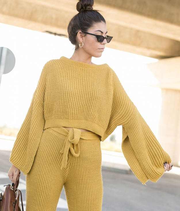 Conjunto Ideally - Mustard