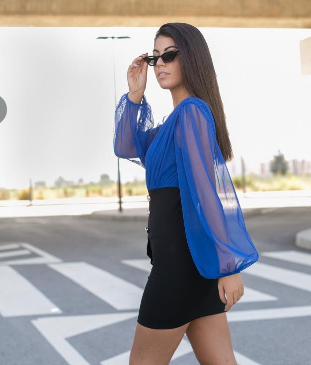 Vestido Arts - Azul Klein