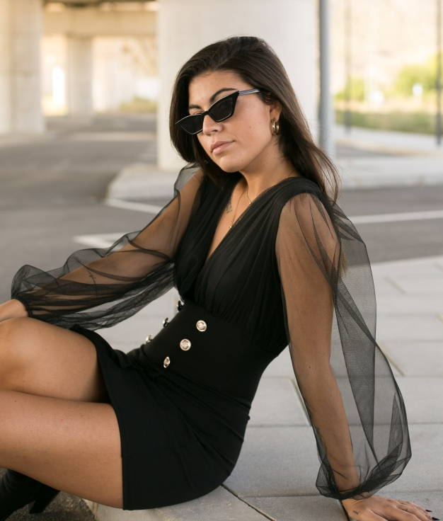 Vestido Arts - Negro