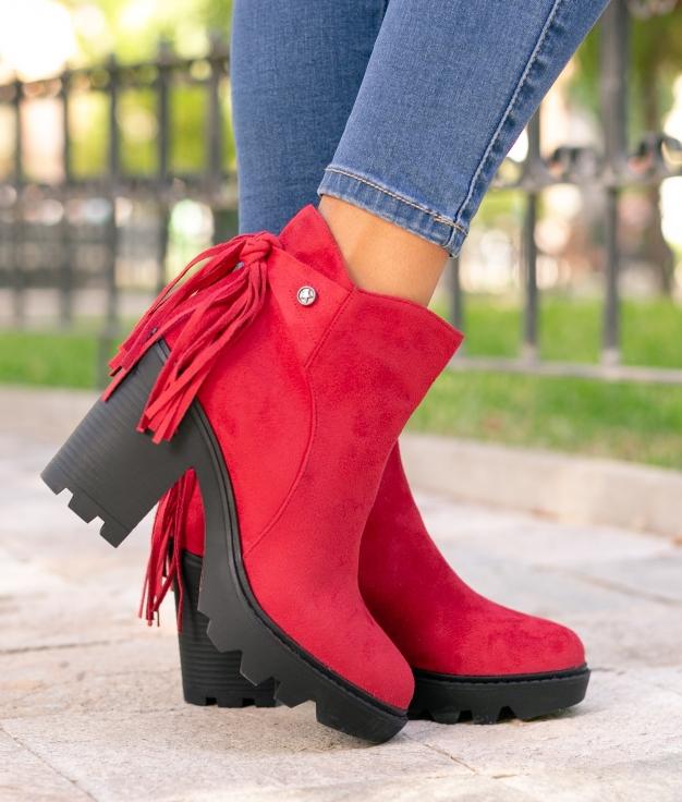 Low Boot Peram - Red
