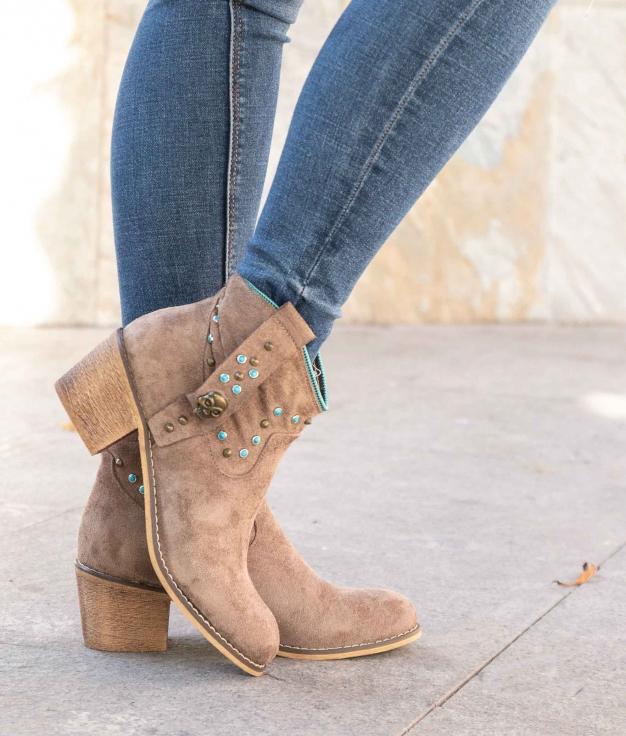Low Boot Calver - Khaki