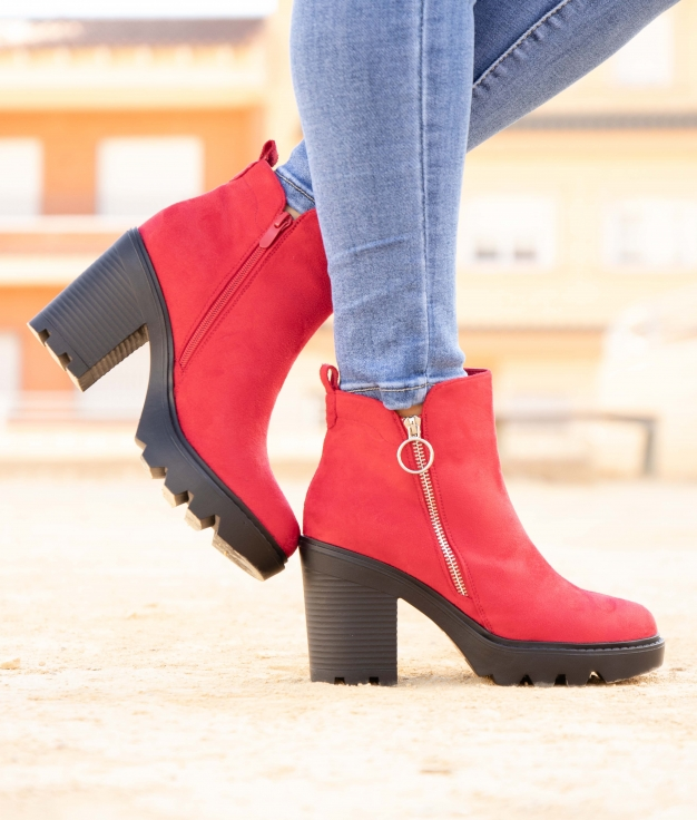 Low Boot Donse - Red
