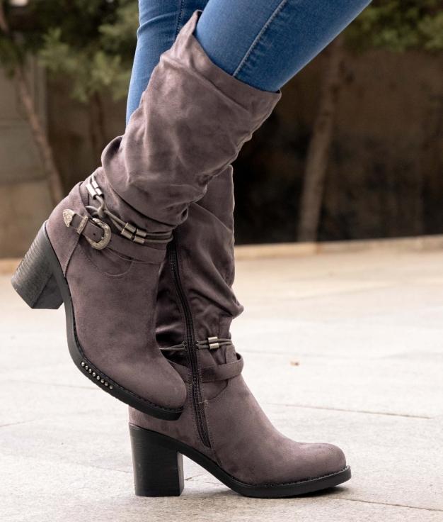 Low Boot Naliz - Cinza