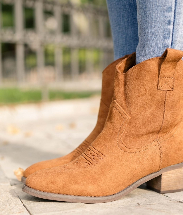 Low Boot Indal - Camel