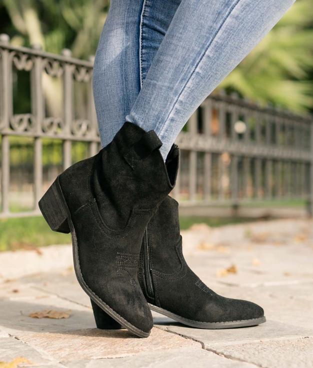 Low Boot Indal - Black