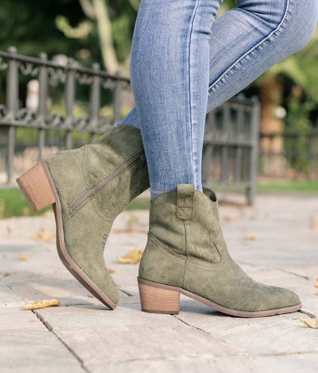 Low Boot Indal - Green