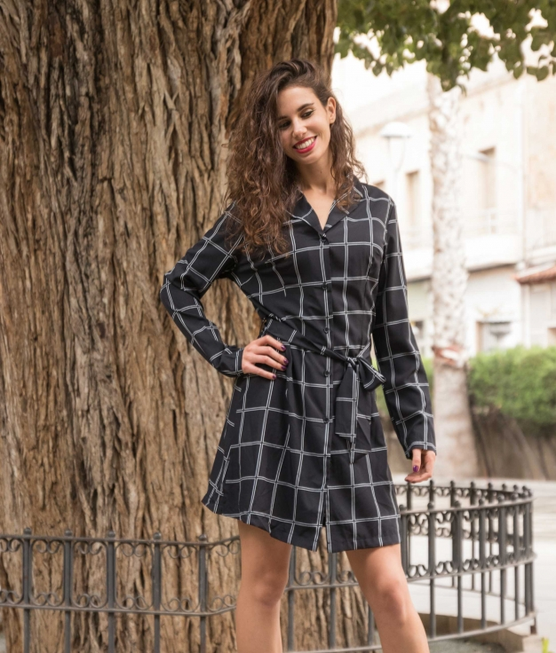 Vestido Laser - Negro