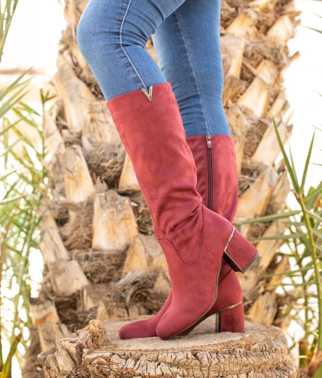 Knee-length Boot Ursu - Maroon