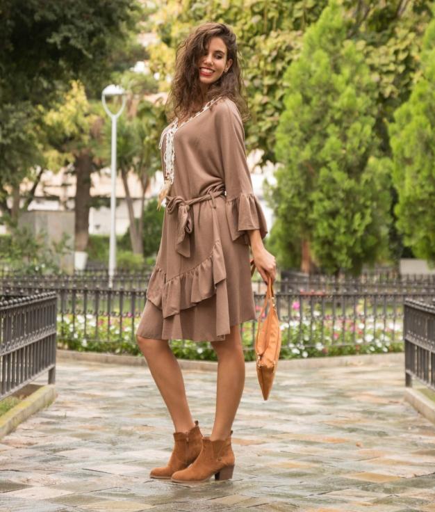 Dress Buren - Brown