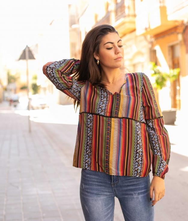 Blusa Lontin - Multicolorido