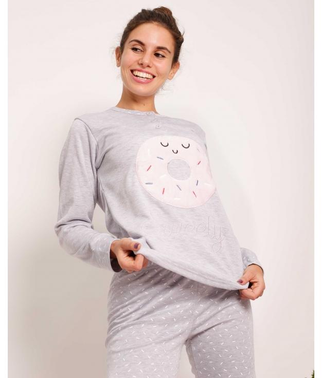 Pijama Donuta - Cinza