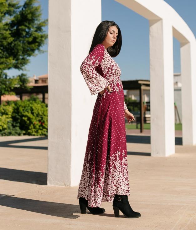 Vestido Disfrute - Granate
