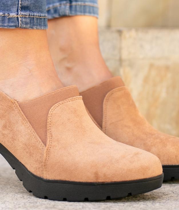 Sapato de Salto Belcis - Camelo