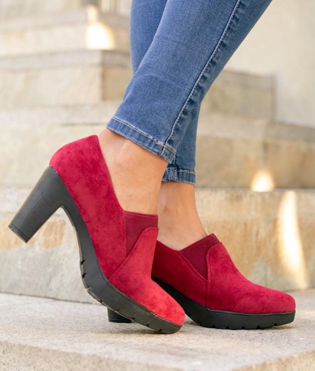 Sapato de Salto Belcis - Grená