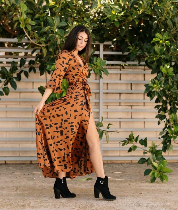 Dress Velet - Brown