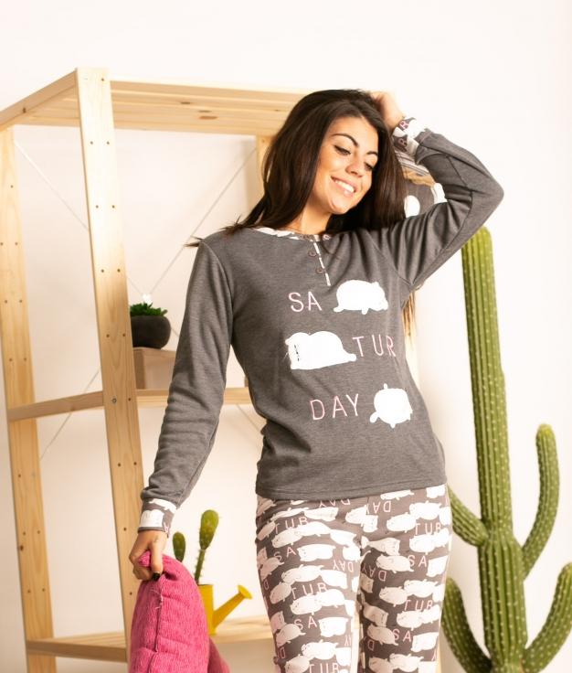Pijama Neblis - Cinza