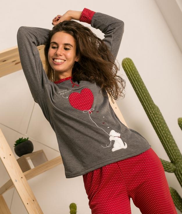 Pijama Staren - Cinza