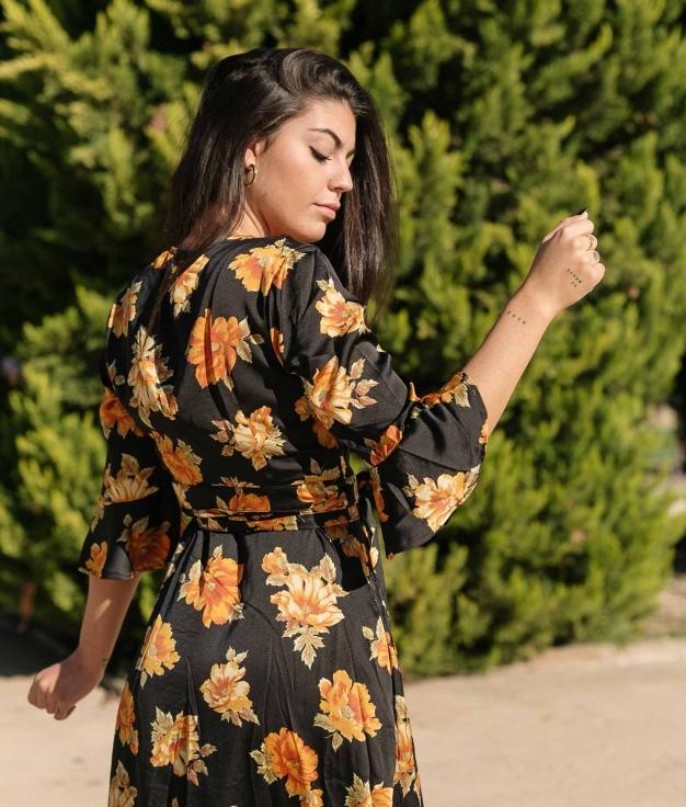 Vestido Velet - Negro