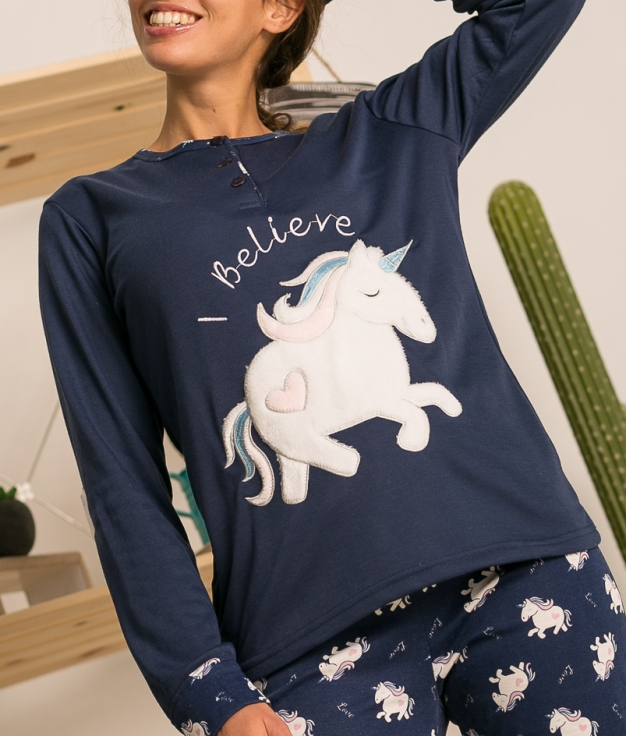 Pijama Lersa - Azul Oscuro