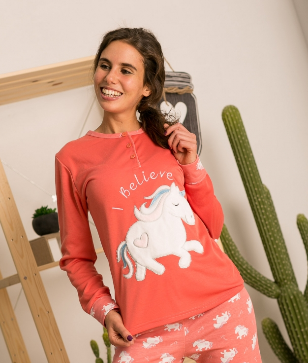 Pijama Lersa - Coral