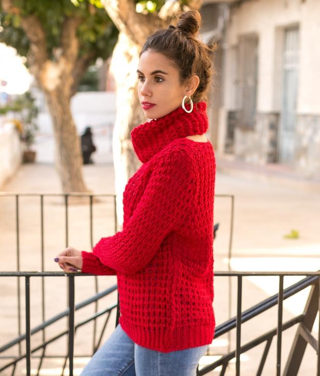 Sweater Ikara - Red