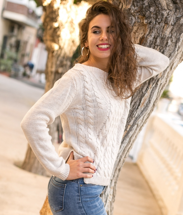 Sweater Wener - Beige