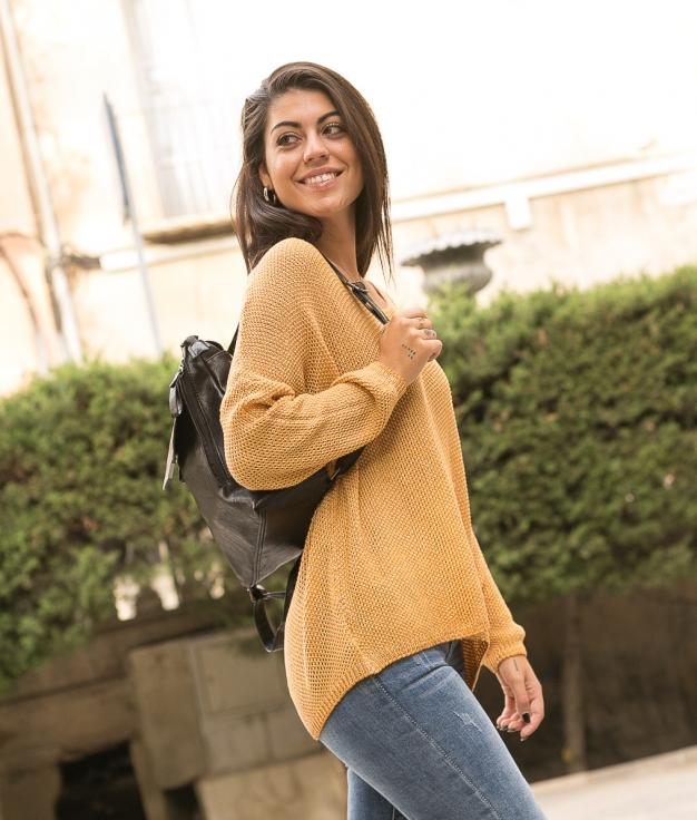 Sweater Ganster - Mustard