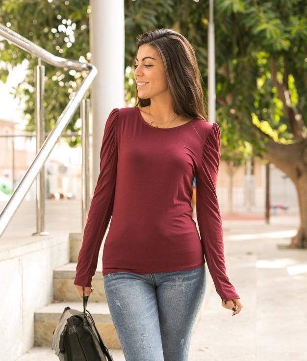 Camiseta Qaser - Granate