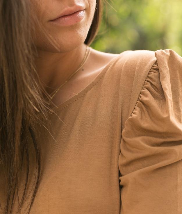 Camiseta Qaser - Camel