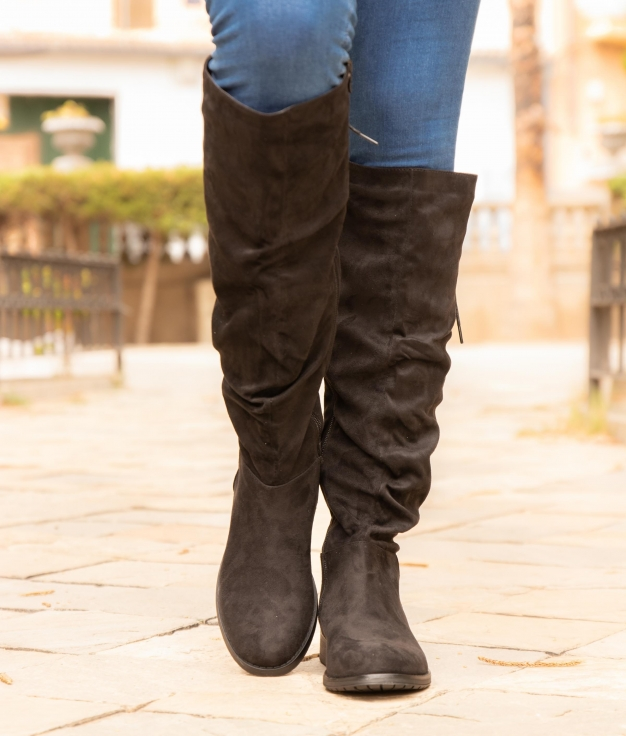 Knee-length Boot Loster - Black