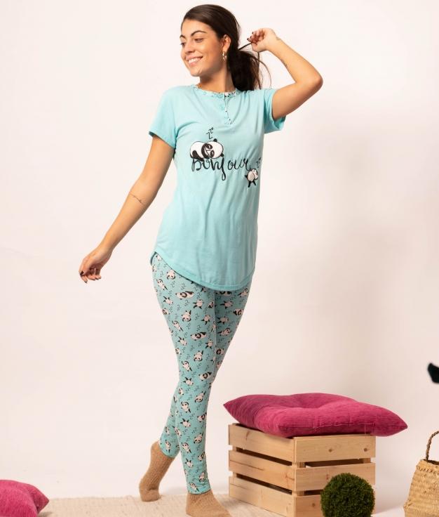 Pijama Tesna - Turquesa