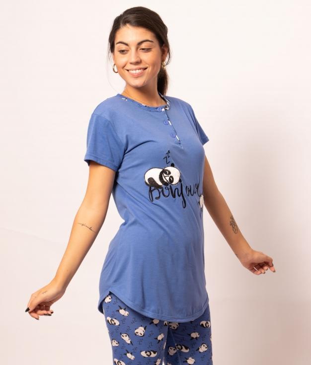 Pijama Tesna - Azul