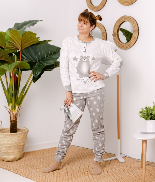 Pijama Riser - Cinza